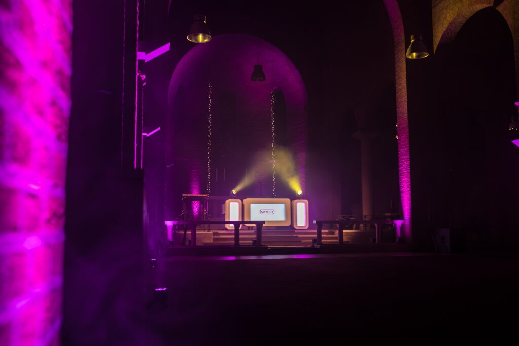 DJ trouwfeest met Led Uplights